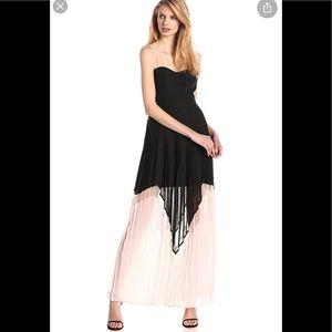 Jessica Simpson maxi dress with mesh yoke